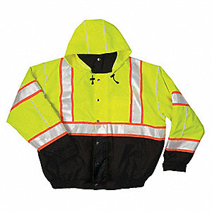 Bomber Jacket,Hi-Vis,Lime,4XL