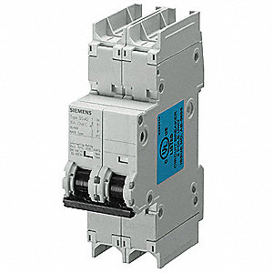 Miniature Circuit Breaker, 8 Amps, D Curve Type, Number of Poles: 2