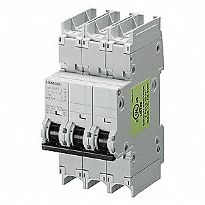 Miniature Circuit Breaker, 20 Amps, C Curve Type, Number of Poles: 3