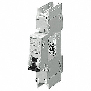 Miniature Circuit Breaker, 3 Amps, D Curve Type, Number of Poles: 1