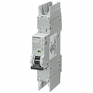 Miniature Circuit Breaker, 4 Amps, D Curve Type, Number of Poles: 1