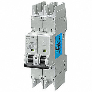 Miniature Circuit Breaker, 30 Amps, C Curve Type, Number of Poles: 2