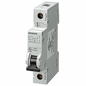 Mini Circuit Breaker,4A,1 Pole,C,240V