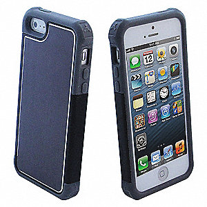 IPHONE 5 - BLK/GR CASE + SCRN PROT