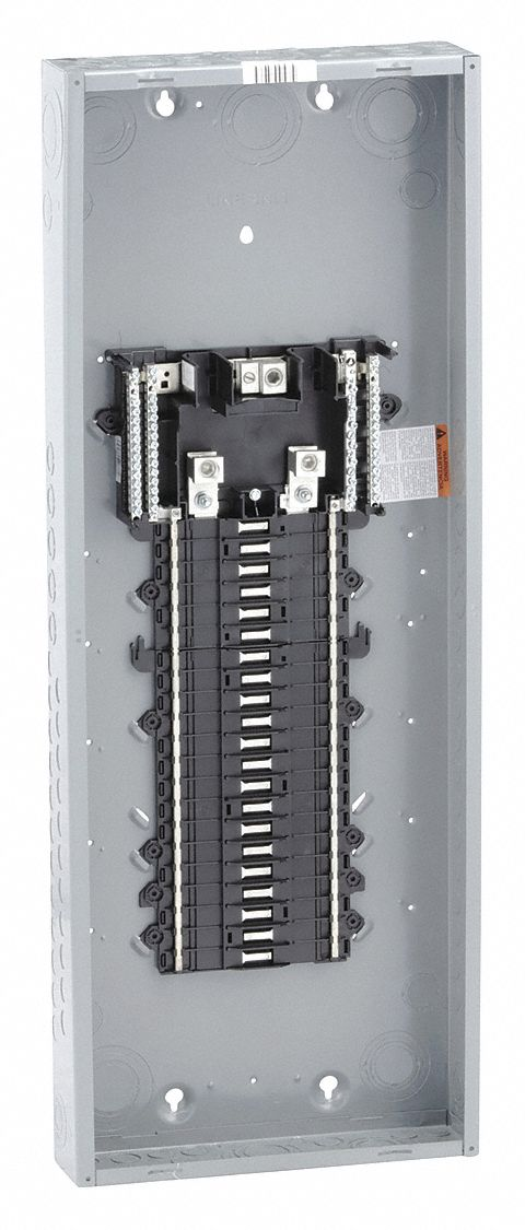 Load Center, Main Lug, Convertible,225 Amps,120/240VAC Voltage,Number of Spaces: 42