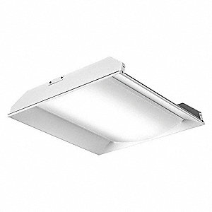 LED Recessed Troffer, LED Replacement For U-Bend, 3500K, Lumens 2000, Rated Life 50,000 hr.
