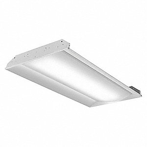 LED Recessed Troffer, LED Replacement For 3 Lamp LFL, 3500K, Lumens 4000, Rated Life 50,000 hr.