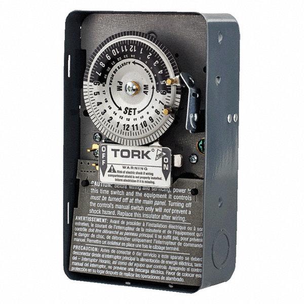Tork Electromechanical Timer 120vac Voltage 40 Amps Max