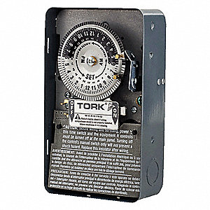 tork electromechanical timer, 208 to 277vac voltage, 40 amps, max  time  setting: 22 hr  45 min  - 30yj40|1104b - grainger