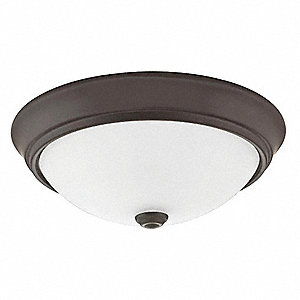 LED Flush Mount Light, 20W, 120V, 1000 lm