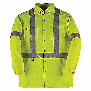 DRESS SHIRT HV CSA CLASS2 YEL-2XL-T