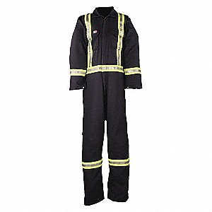 COVERALL FLASHTRAP VENTED-NAY-4XL-R