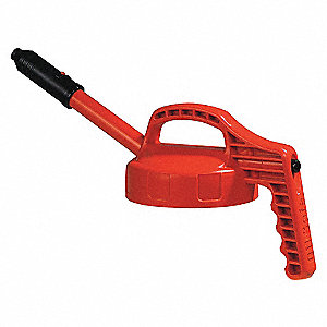 LID STRETCH SPOUT W/0.5 ORANGE