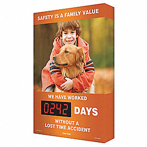 Scoreboard, Family Value Boy, 20 x 28 In.
