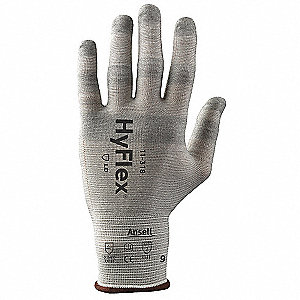 Uncoated Cut Resistant Gloves, ANSI/ISEA Cut Level 2, Dyneema® Lining, White, 6, PR 1