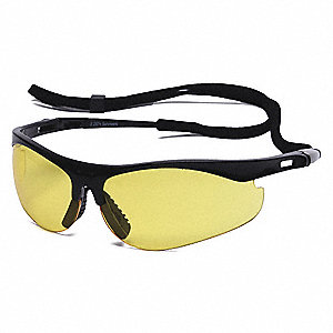 Thecla™ Scratch-Resistant Safety Glasses, Amber Lens Color