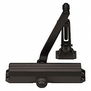 Manual Hydraulic Norton 1601-Series Door Closer, Heavy Duty Interior and Exterior, Dark Bronze
