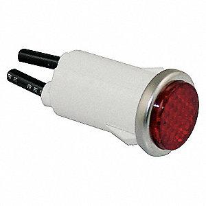 FLUSH INDICATOR LIGHT RED 12V