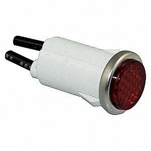 FLUSH INDICATOR LIGHT RED 120V
