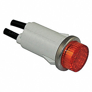 RAISED INDICATOR LIGHT AMBER 120V