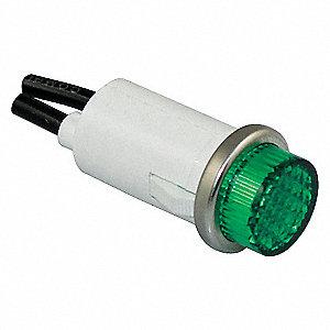 RAISED INDICATOR LIGHT GREEN 240V