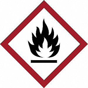 GHS FLAMMABLE LABEL, 1IN, 16/CARD