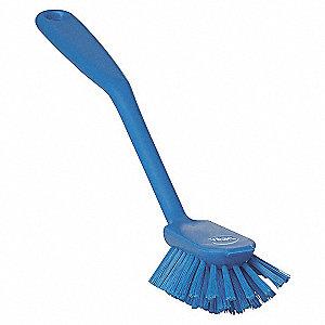 DISH BRUSH, SOFT, BLUE