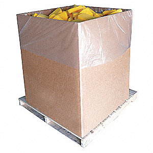 POLY BAG LINER 40/RL 3ML 55X45X90