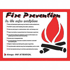 Poster,Fire Prevention,18 x 24 In.