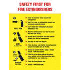 Safety First For Fire Extinguishers Posters