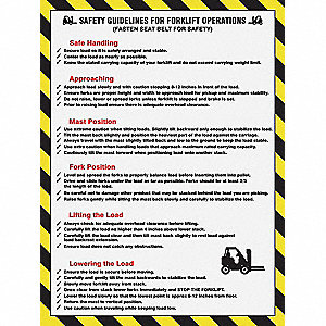 Poster,Safety Guidelines For,18 x 24 In.