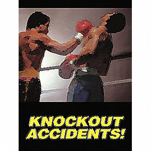 Poster,Knockout Accidents,18 x 24 In.