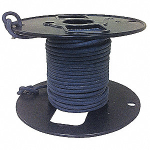 18 AWG HV Silicone Lead Wire, Tin-Plated Copper, 5 kVDC, Black, 50 ft.