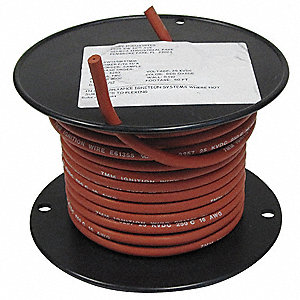 16 AWG HV Ignition Wire, Nickel Plated Copper, 25 kVDC, Red, 50 ft.