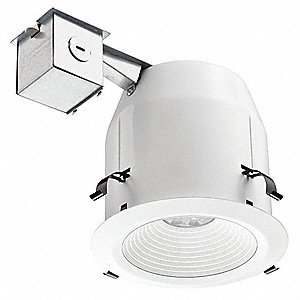 White Baffle Recessed Kit, 5In