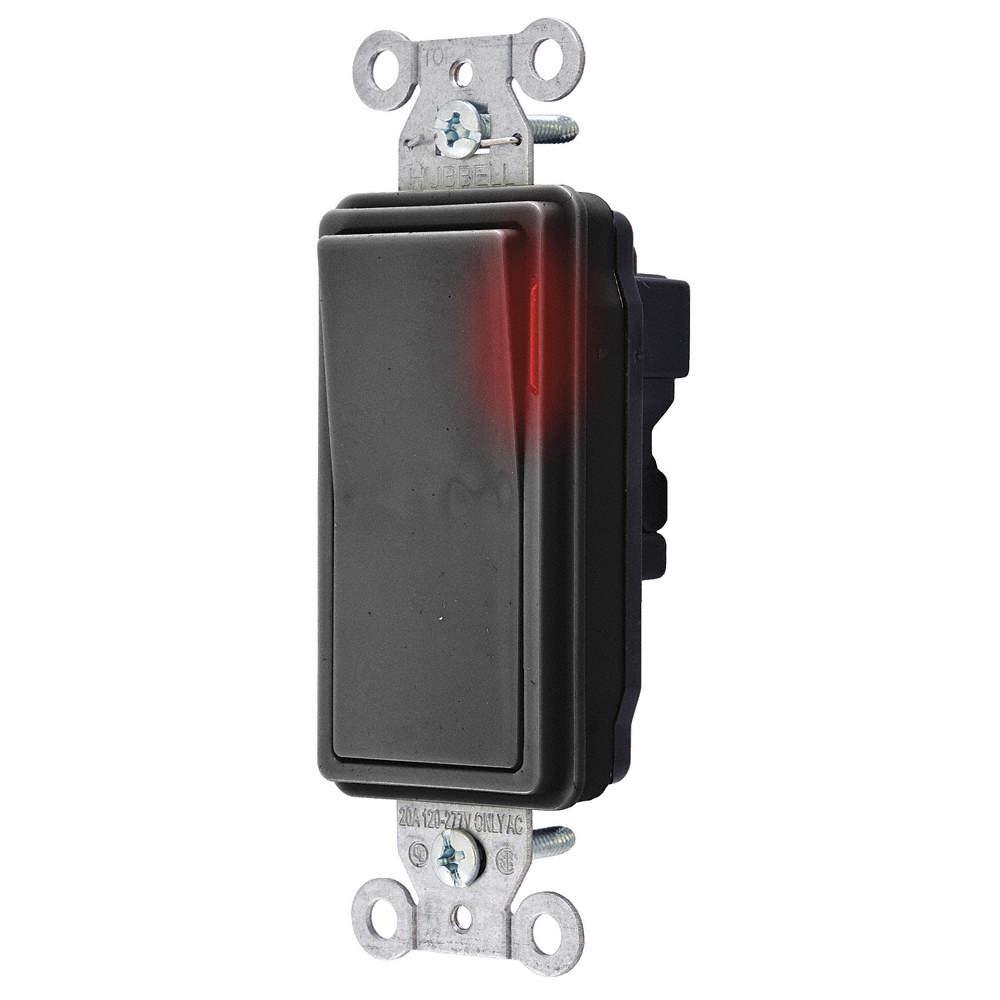 SNAPCONNECT Pilot Light Wall Switch, Switch Type: 1-Pole, Switch ...