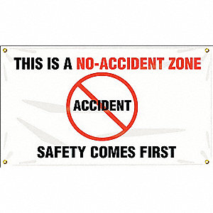 Banner,This Is No-Accident,24 x 48 In.