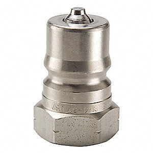 "1/4""-18 303 Stainless Steel Hydraulic Coupler Nipple, 1/4"" Body Size"