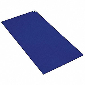 "Blue Disposable Tacky Mat, 36"" x 18"", 4 PK"