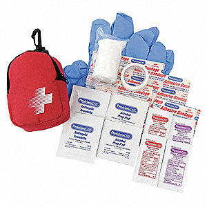 First Aid Kit, Kit, Fabric Case Material, General Purpose, 1 People Served Per Kit