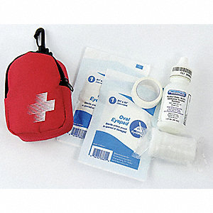 First Aid Kit,Portable,Red,Fabric