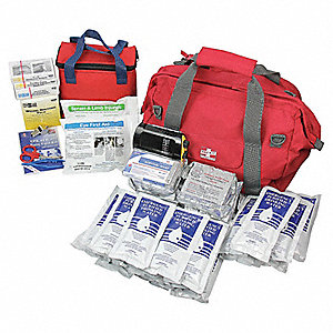 Survival Kit,Red,8inHx14inLx14inW
