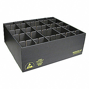 ESD Divider Box,40-3/4 x 38-1/2 x4-1/4in