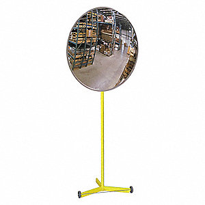 "18""-dia. Circular Indoor Convex Mirror, 18"", Viewing Distance: 20 ft."