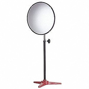 Circular Indoor Convex Mirror, 160° Viewing Angle, 15 ft. Approx. Viewing Distance