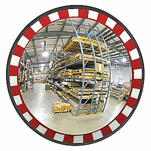 "36""-dia. Circular Indoor Convex Mirror, 36"", Viewing Distance: 40 ft."