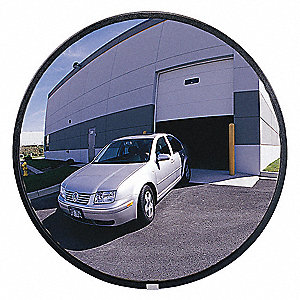"26""-dia. Circular Outdoor Convex Mirror, Viewing Distance: 30 ft."