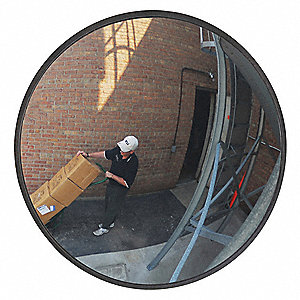 Circular Indoor/Outdoor Convex Mirror, 160° Viewing Angle, 55 ft. Approx. Viewing Distance