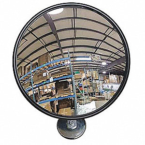 Circular Indoor Convex Mirror, 160° Viewing Angle, 10 ft. Approx. Viewing Distance