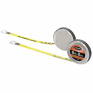Steel 6 ft. SAE Diameter Tape Measure